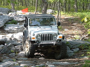Jeep Rubicon Rock Crawling