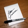 This is NOT Alan Jackson's real signature... it simply represents the classic moment that we missed... one that I am certain we will live to regret.