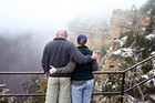Lynnette and Jim make a quick stop by the Grand Canyon -- this is the 'Chevy Chase Grand Canyon shot'.