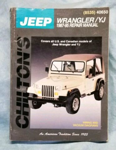 Chilton's Manual for Jeep Wrangler