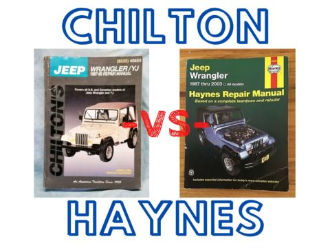 Chilton vs Haynes auto repair manuals