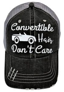 Convertible hair don't care hat - messy hair hat