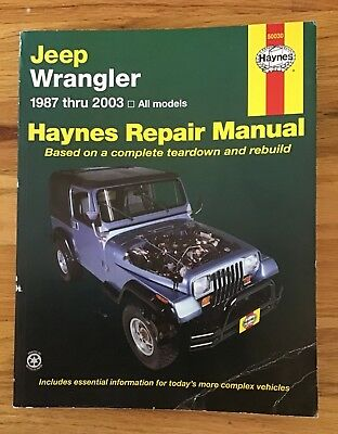 Haynes Repair Manual for Jeep Wrangler