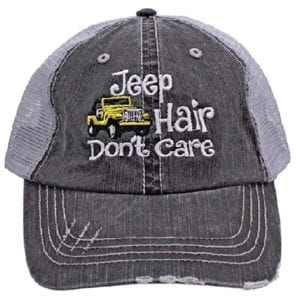 Jeep hair don't care hat - yellow jeep hat