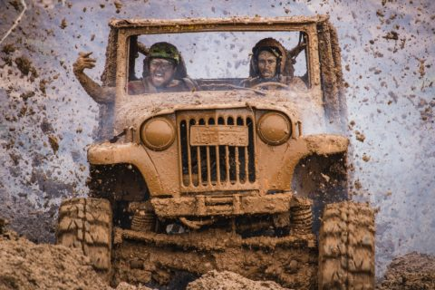 A Jeep Wrangler is a great vehicle to take offroad. It's also a fun daily driver!