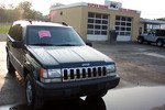 Our 1994 Jeep Grand Cherokee for sale at the Super Shine Detail Center in Franklin, Tennessee.