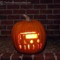 Jeep Wrangle lit pumpkin.
