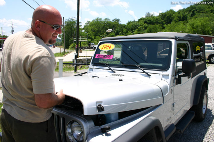 Jim Checking Out The 2004 Jeep Wrangler Unlimited Before We Drove It Off The Lot