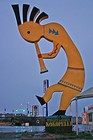 The 'World's Largest Kokopelli' -- known as the 'fertility god'. There are Kokopelli souvenirs all over Arizona... we got one too. (I'll let you know if it 'works'.)