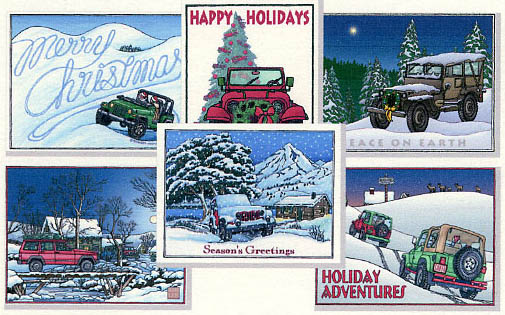 Christmas Jeep.Be Different Send Jeep Holiday Cards This Year The