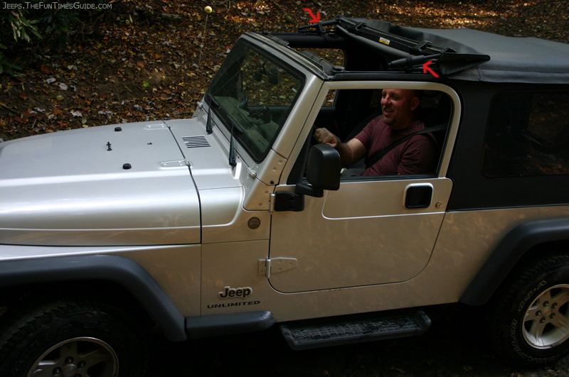 Jeep Wrangler Unlimited With Sunrider Top Down