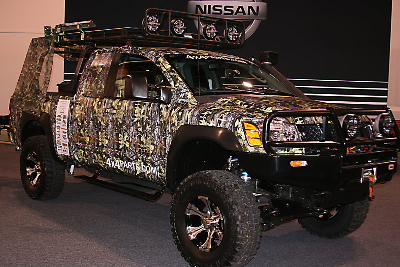 Nissan Titan Lift Kits. Grill with a camo